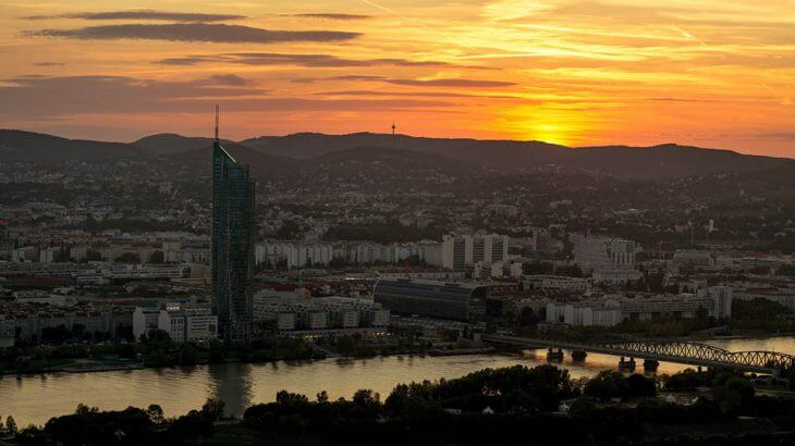 Sunset over Vienna